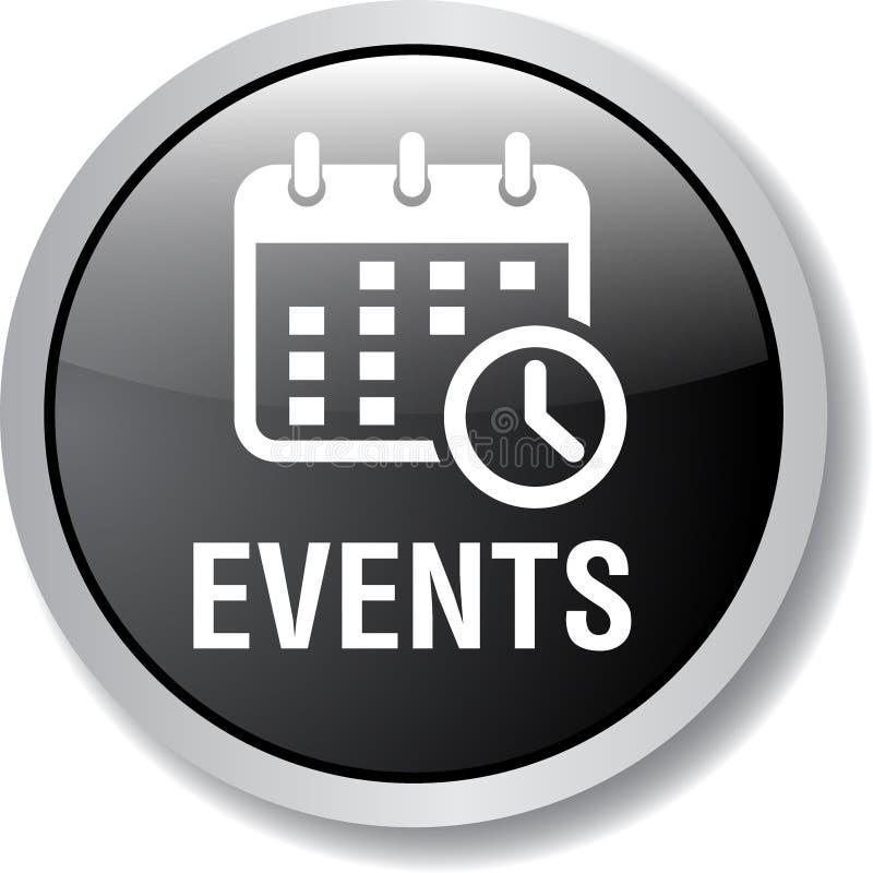 Botão da Web do ícone dos eventos ilustração royalty free