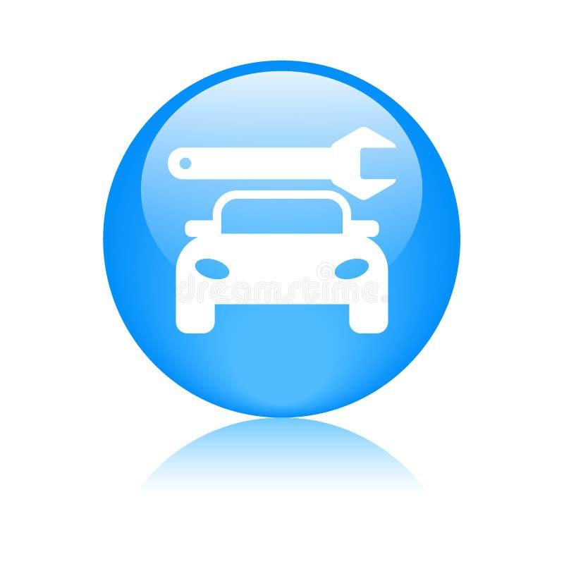 Botão da Web do ícone do serviço do carro ilustração do vetor