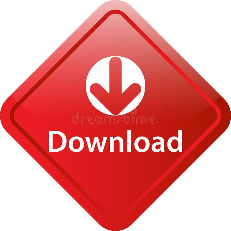 Botão da Web do ícone da transferência ilustração royalty free