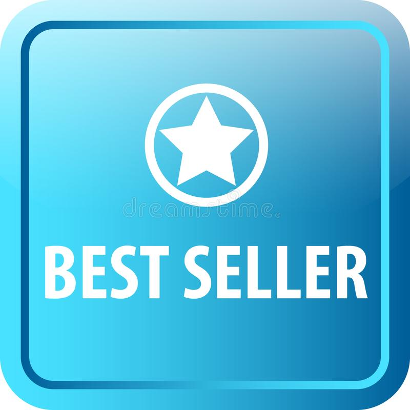 Botão da Web do melhor vendedor ilustração stock