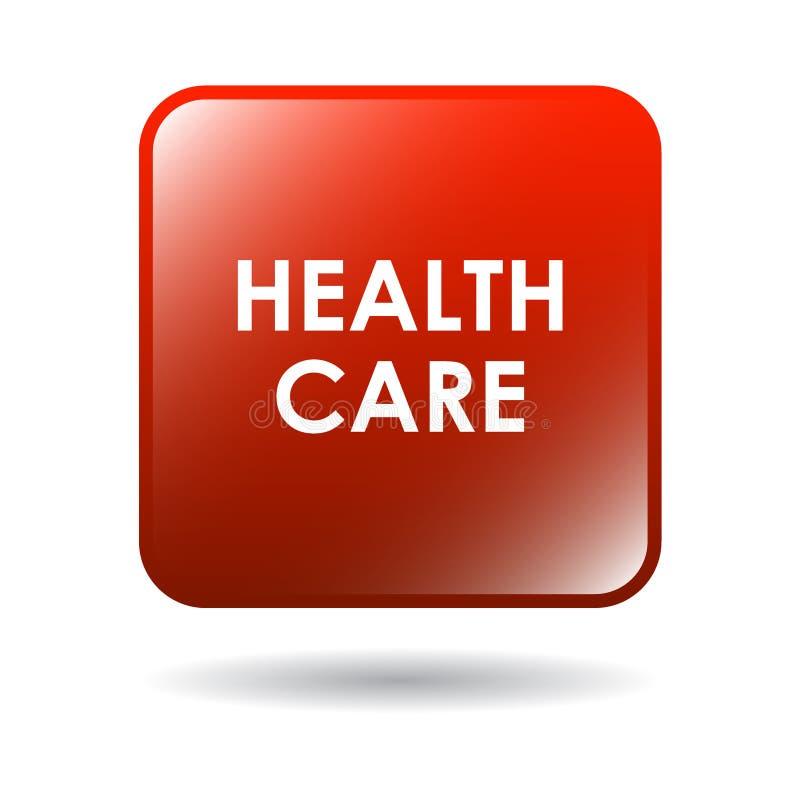 Botão da Web dos cuidados médicos ilustração stock