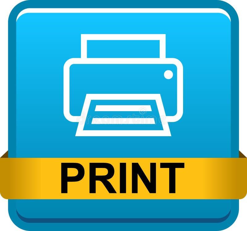 Botão da Web da impressora ilustração stock