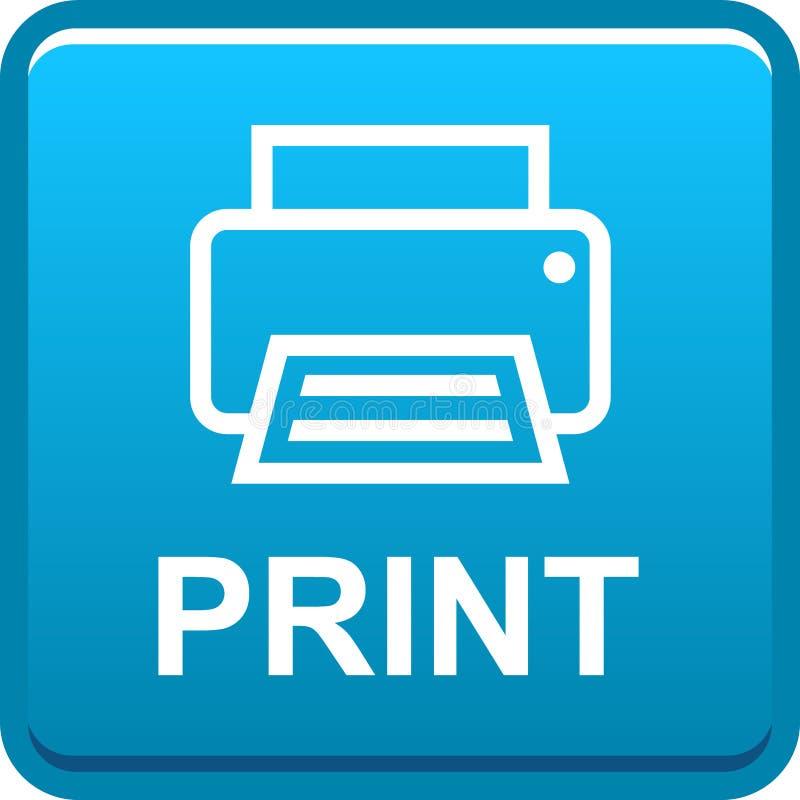 Botão da Web da impressora ilustração royalty free
