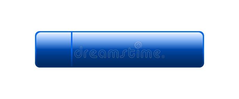 Botão da Web vazio ilustração stock
