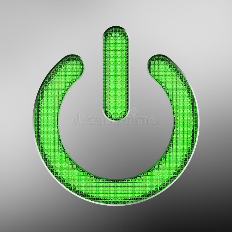 Botão das energias verdes ilustração do vetor
