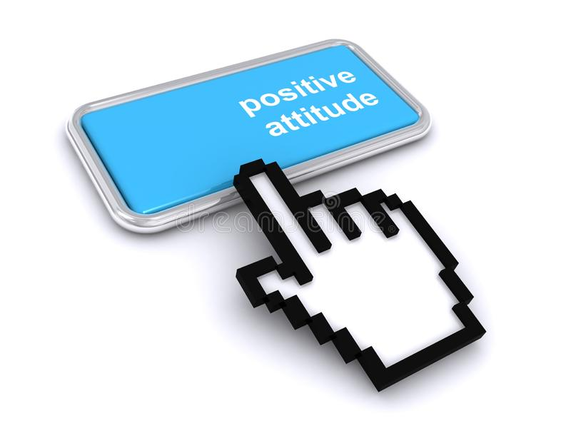 Botão de atitude positiva ilustração do vetor