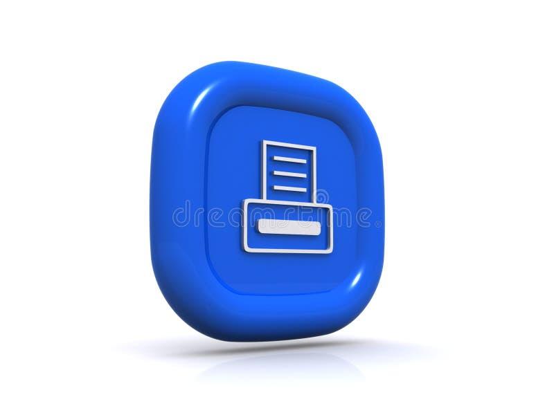 Botão de cópia azul ilustração stock