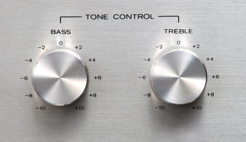Botão De Controle Do Tom Fotografia de Stock