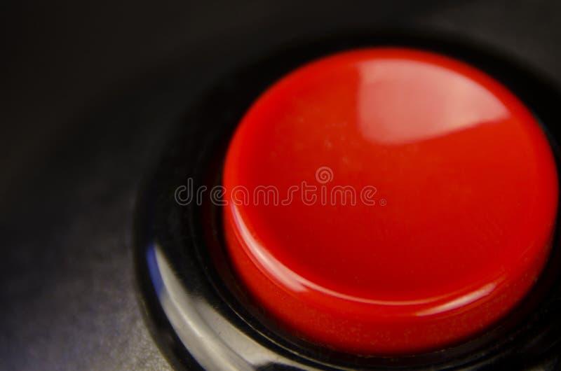 Botão de despedimento vermelho foto de stock