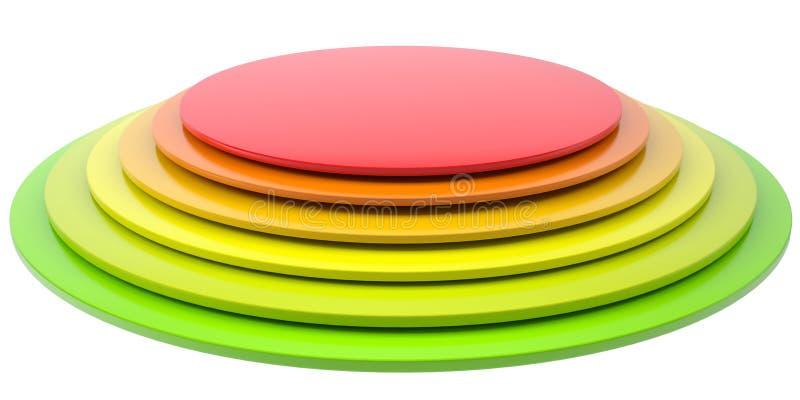 Botão de discos coloridos ilustração stock