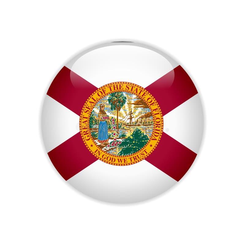 Botão de Florida da bandeira ilustração royalty free