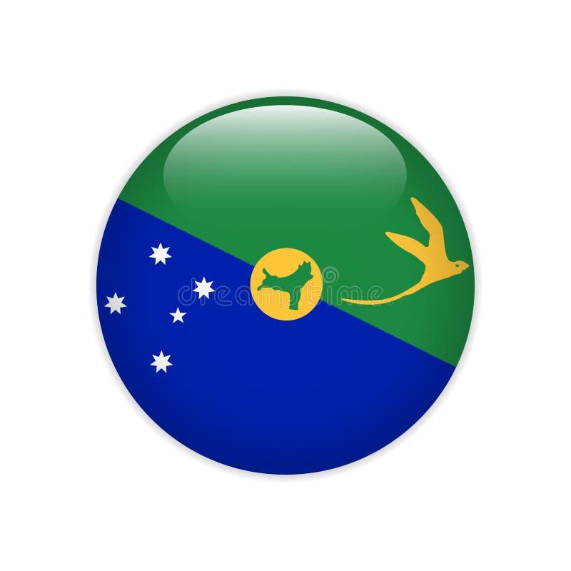 Botão de Ilhas Christmas da bandeira ilustração royalty free