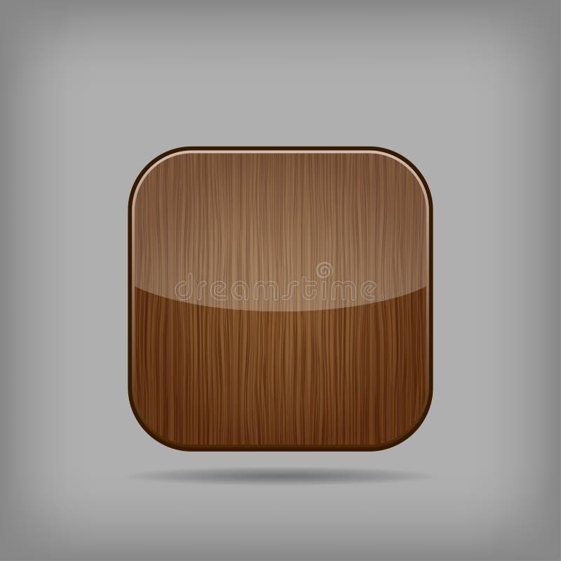 Botão de madeira do vetor ilustração royalty free