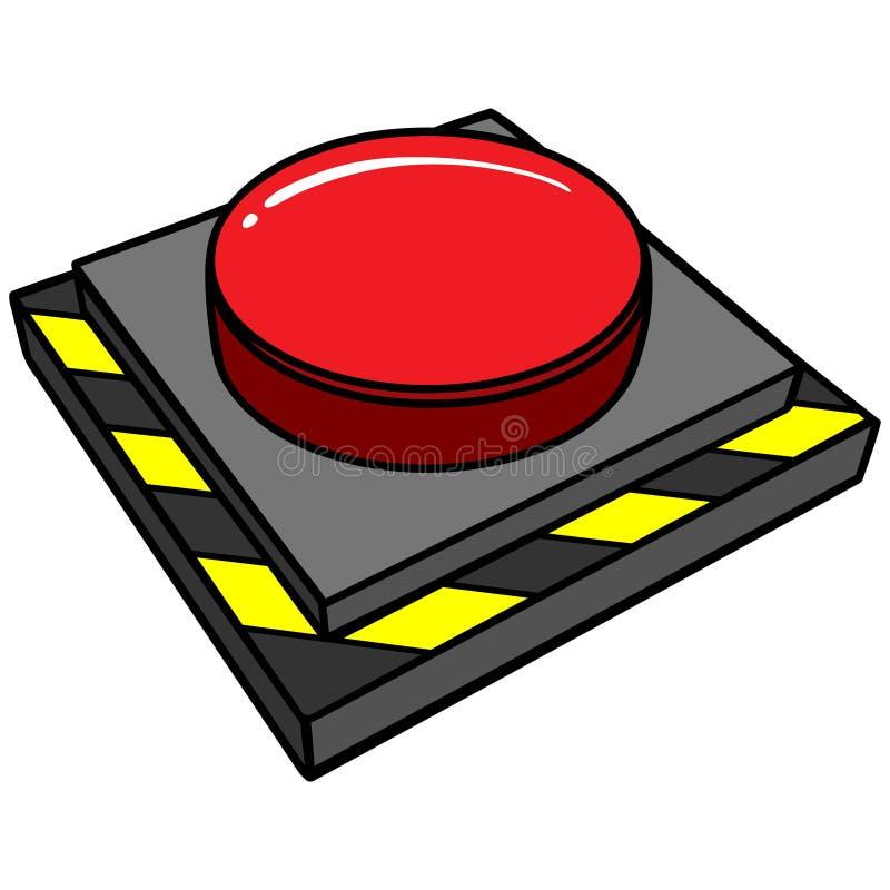 Botão de pânico ilustração royalty free