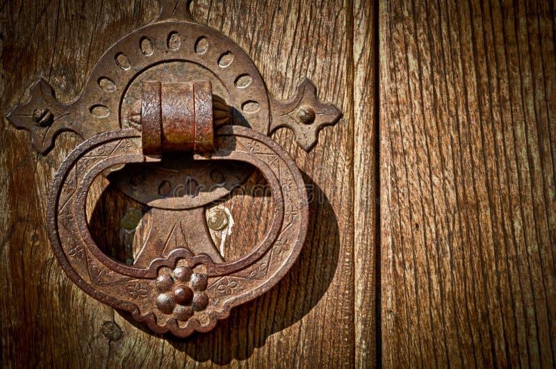 Botão de porta antigo fotografia de stock royalty free