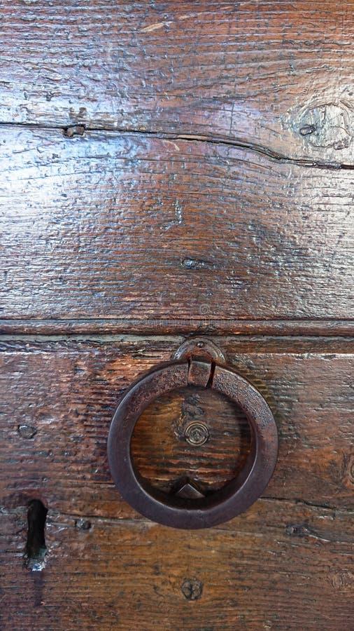 Botão de porta do ferro foto de stock