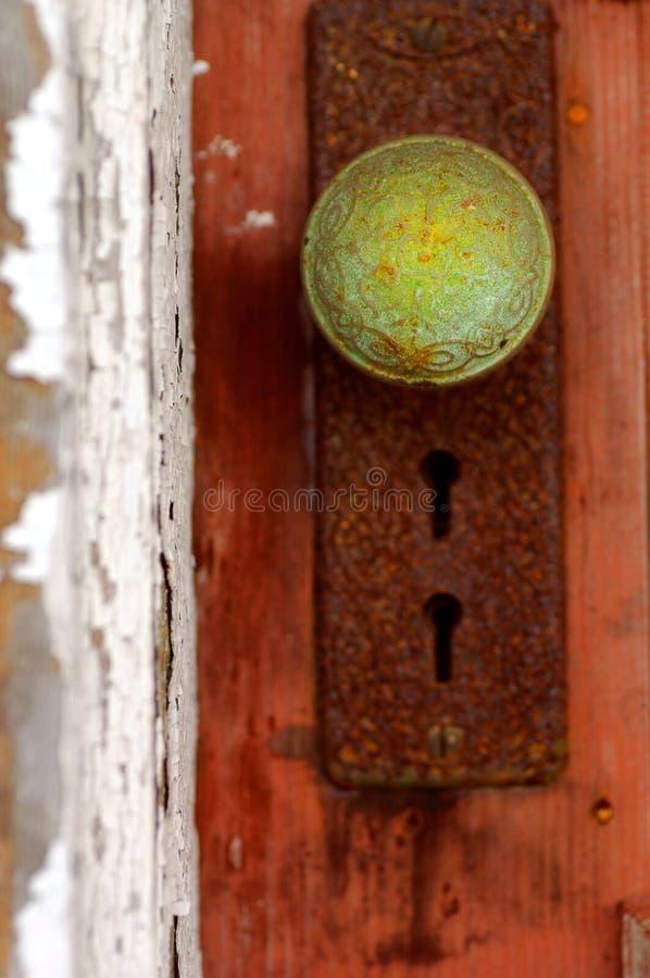 Botão de porta do Patina fotos de stock