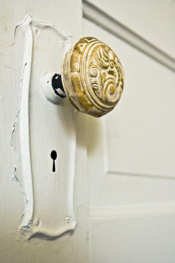 Botão de porta do vintage fotografia de stock