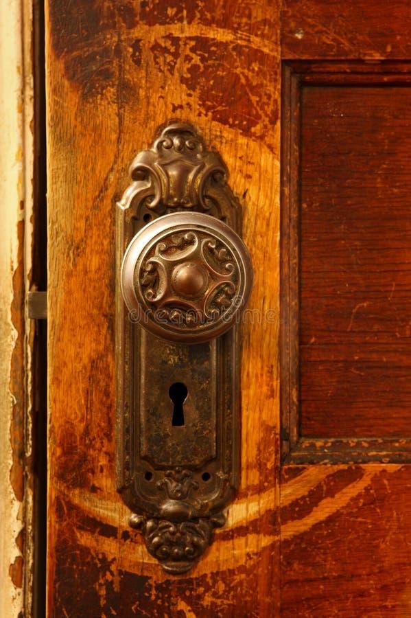 Botão de porta do vintage foto de stock royalty free