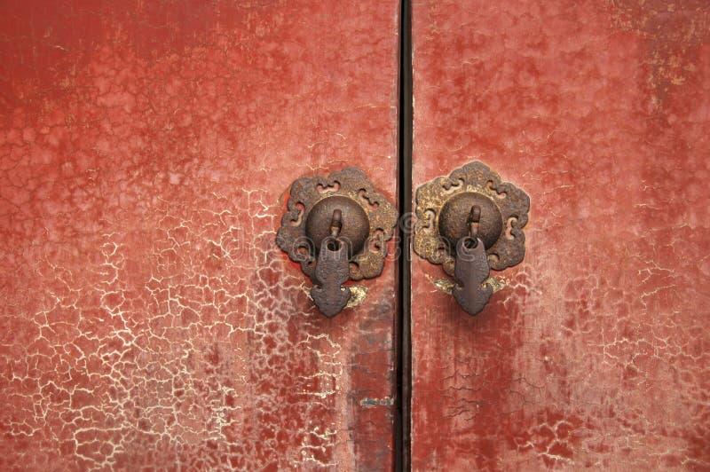 Botão de porta na porcelana fotografia de stock royalty free