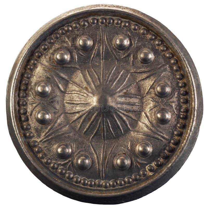 Botão de porta redondo velho imagem de stock