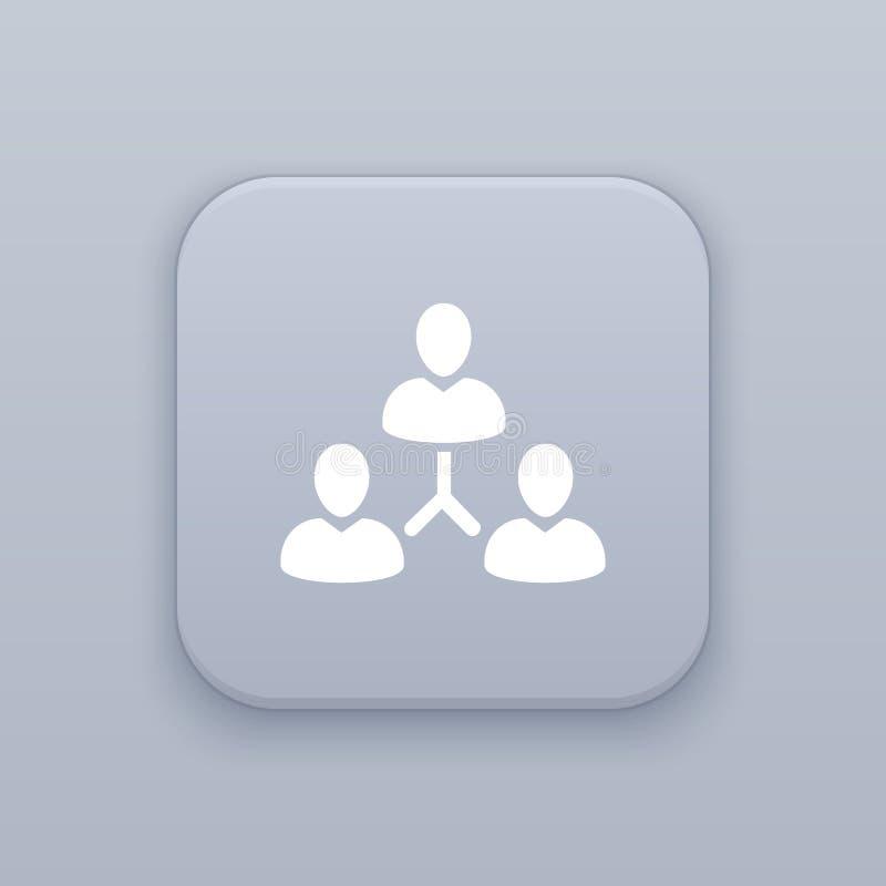Botão de Team Hierarchy da gestão, o melhor vetor ilustração royalty free