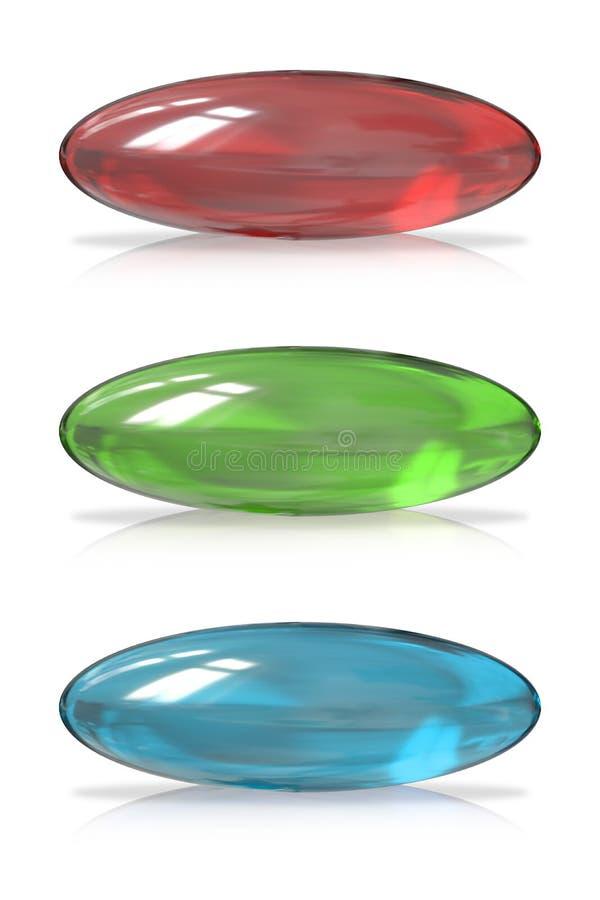 Botão de vidro ilustração stock
