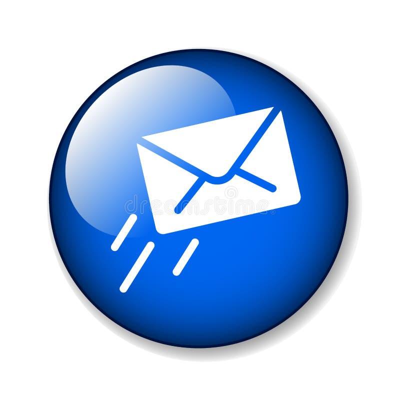 Botão do ícone do email/correio ilustração royalty free