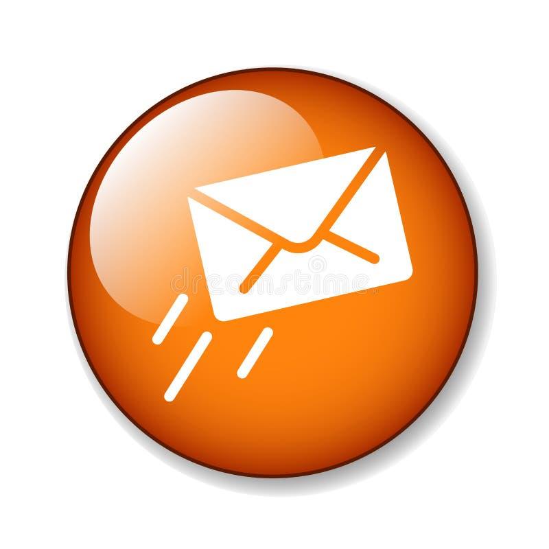 Botão do ícone do email/correio ilustração do vetor