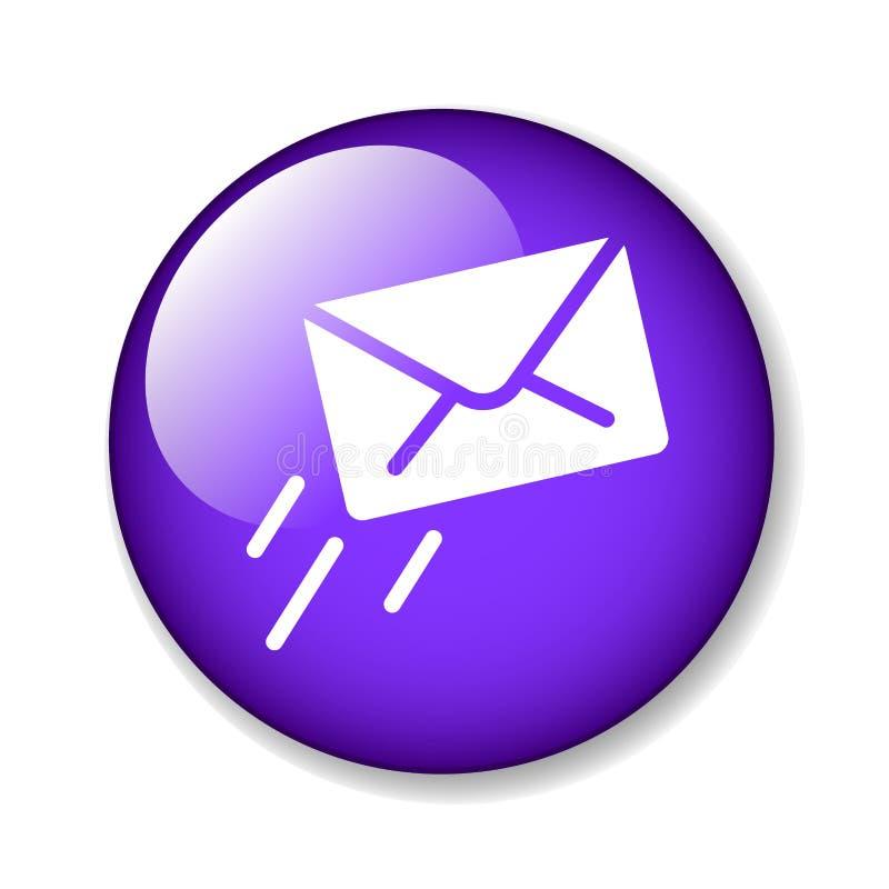 Botão do ícone do email/correio ilustração stock