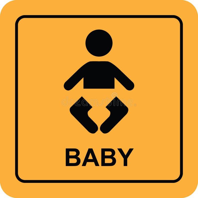 Botão do ícone do sinal do bebê fotografia de stock