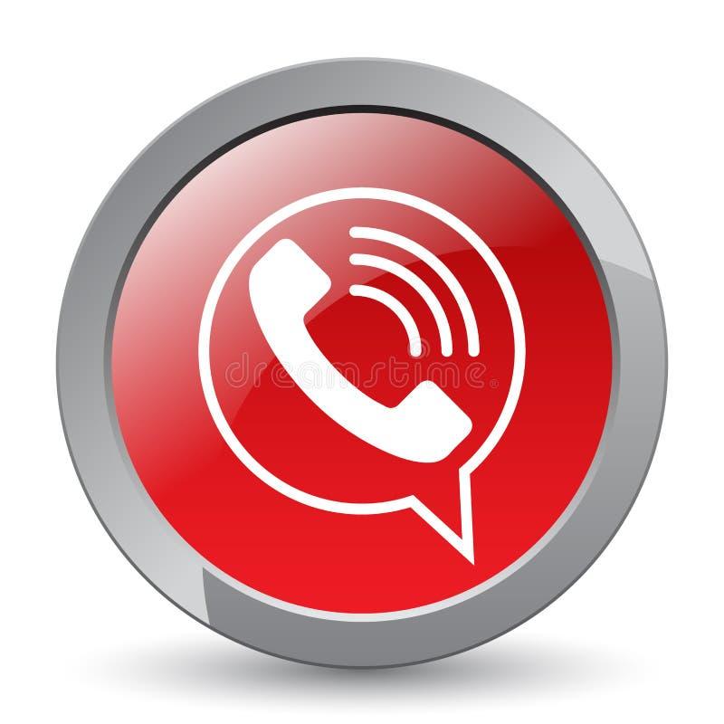 Botão do ícone do telefonema ilustração do vetor