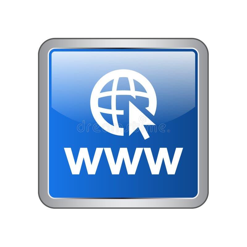 botão do ícone do web browser ilustração royalty free