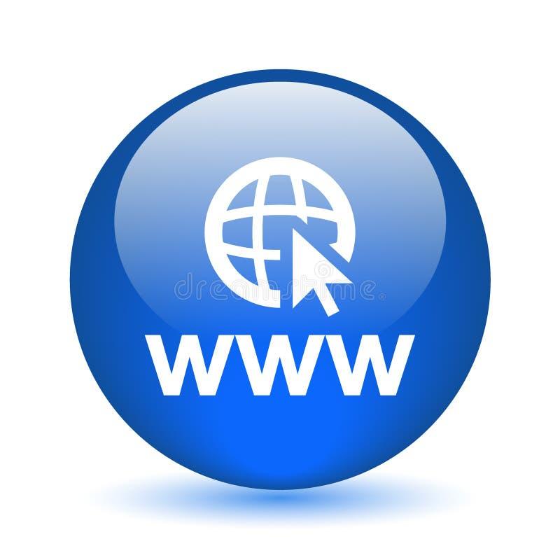 botão do ícone do web browser ilustração do vetor