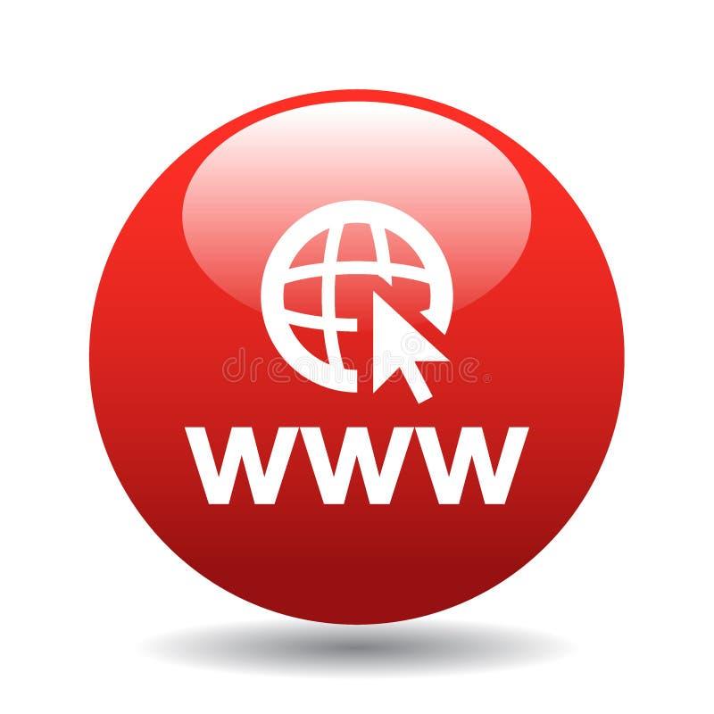 botão do ícone do web browser ilustração stock