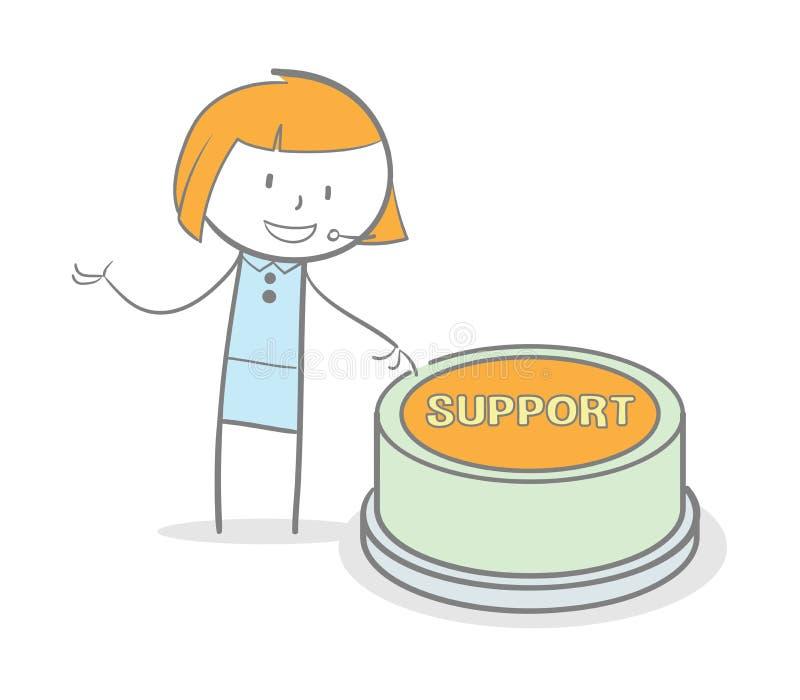 Botão do apoio ilustração do vetor