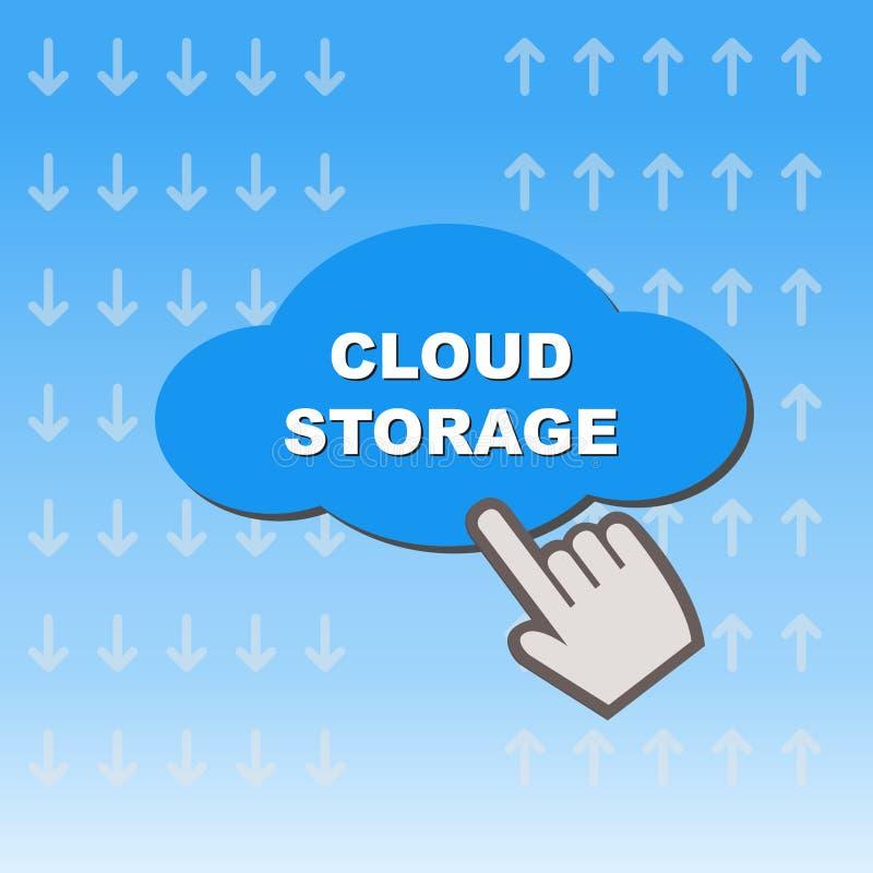 Botão do armazenamento da nuvem ilustração do vetor