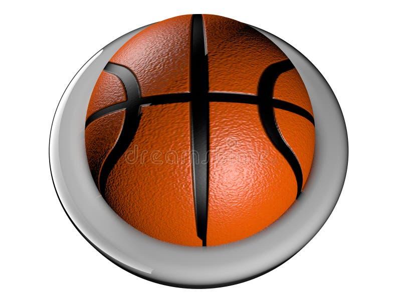Botão do basquetebol ilustração royalty free