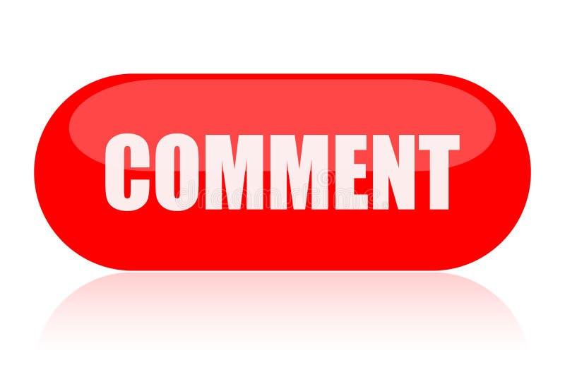 Botão do comentário ilustração do vetor