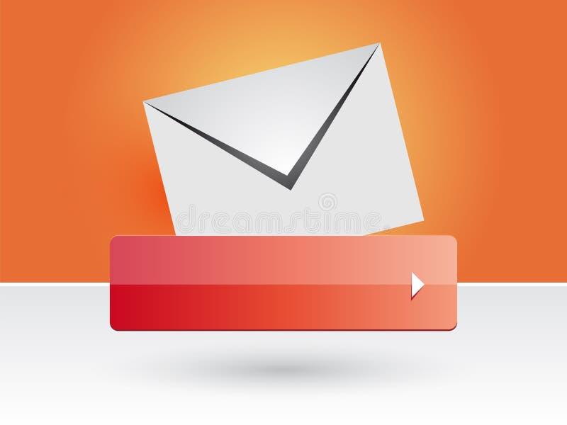 Botão do correio ilustração stock