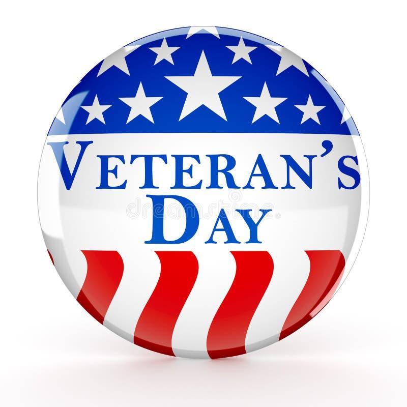 Botão do dia de veterano ilustração stock