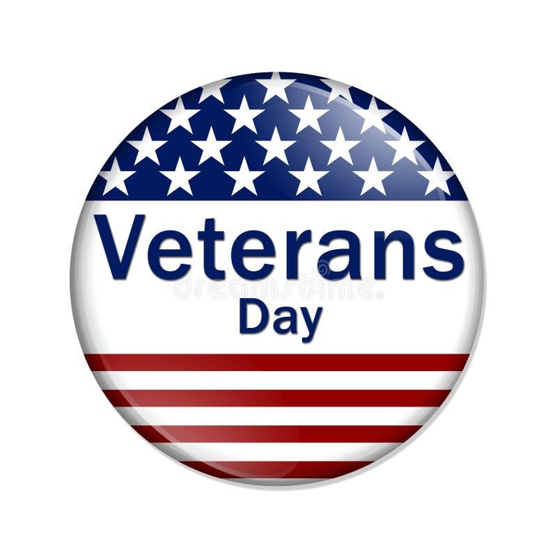 Botão do dia de veteranos ilustração do vetor