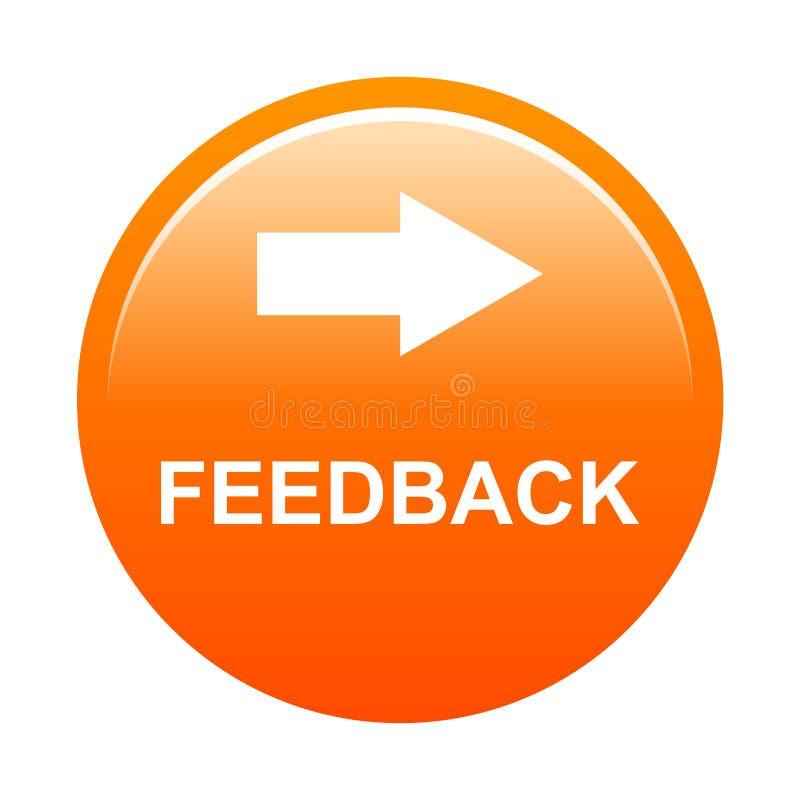 Botão do feedback fotografia de stock royalty free