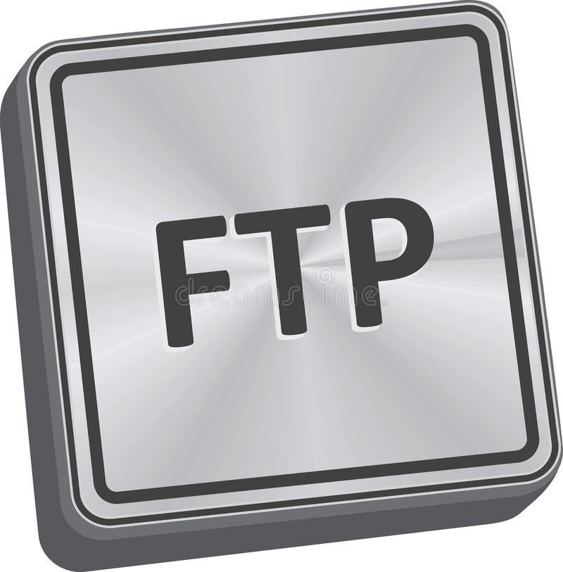 Botão do ftp ilustração stock