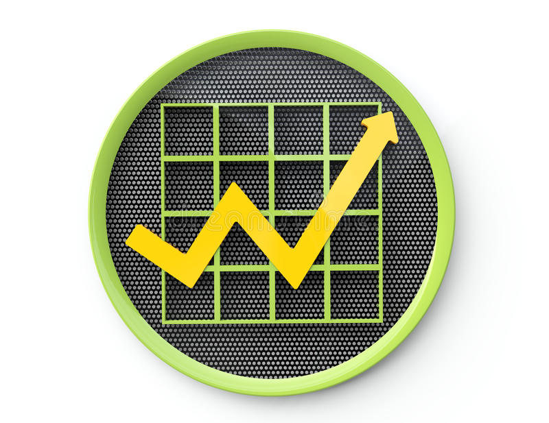 Botão do gráfico de negócio ilustração royalty free