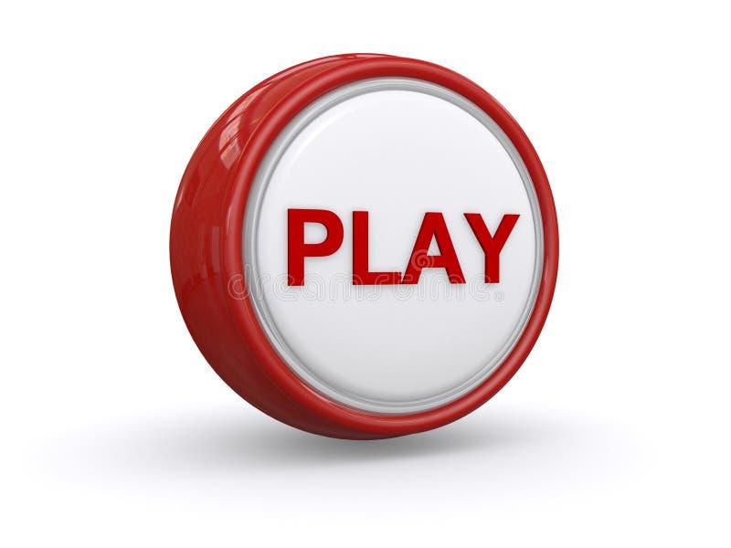 botão do jogo 3d ilustração do vetor