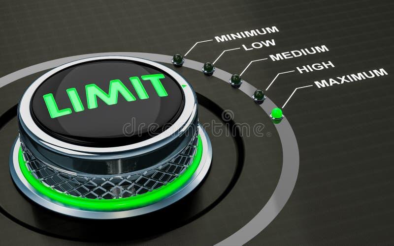 Botão do limite, o mais de nível elevado dos limites 3d ilustração do vetor