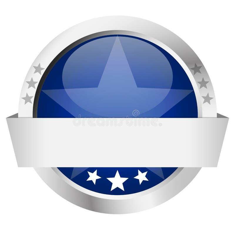 Botão do molde com bandeira ilustração royalty free