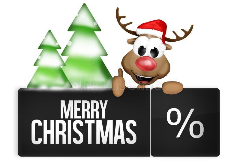 Botão do Natal ilustração royalty free