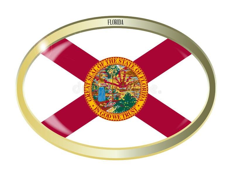 Botão do Oval da bandeira do estado de Florida ilustração royalty free